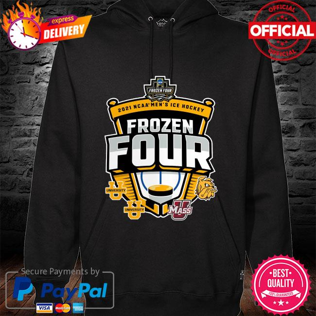 2021 ncaa men's hockey tournament frozen four hoodie black