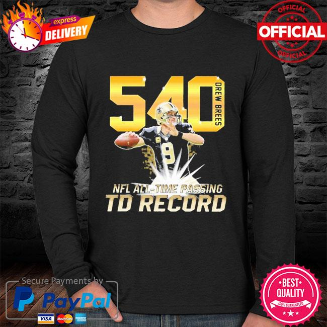 540 Drew Brees NFL All-time passing to record sweater black