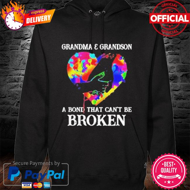 Heart Color Grandma And Grandson A Bond That Can't Be Broken 2021 Shirt hoodie black