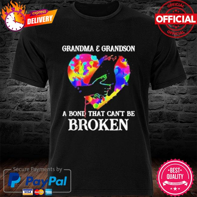 Heart Color Grandma And Grandson A Bond That Can't Be Broken 2021 Shirt