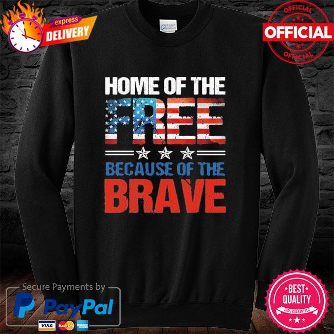 Home Of The Free Because Of The Brave Memorial Day Men 2021 T-s long sleeve black