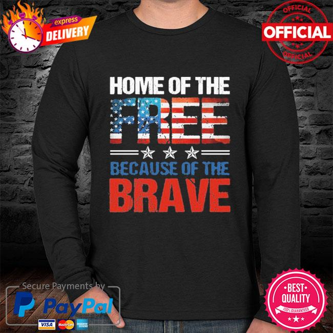 Home Of The Free Because Of The Brave Memorial Day Men 2021 T-s sweater black