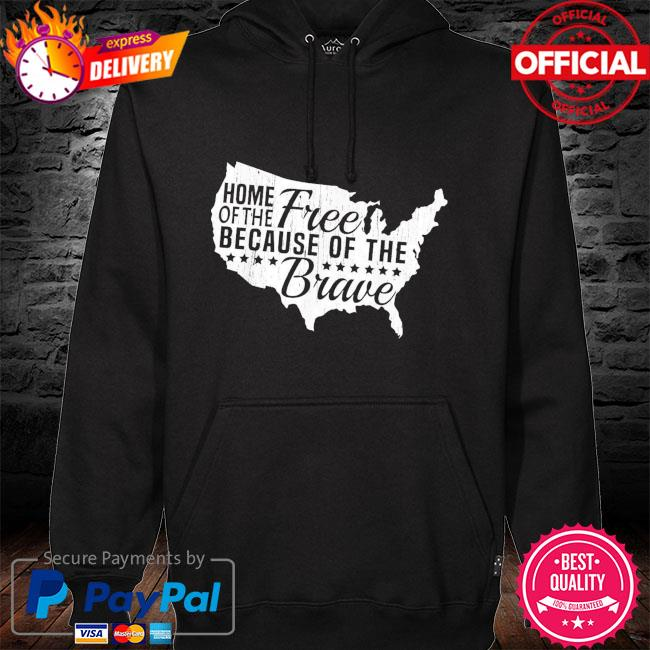 Home Of The Free Because Of The Brave Memorial Day Shirt hoodie black