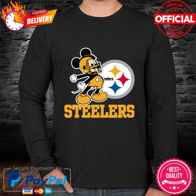Mickey Mouse Pittsburgh Steelers Football Logo Team sweater black