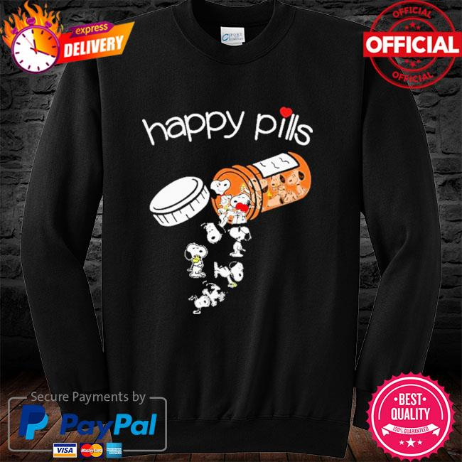 Official Snoopy happy Pills long sleeve black