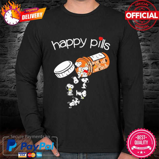 Official Snoopy happy Pills sweater black