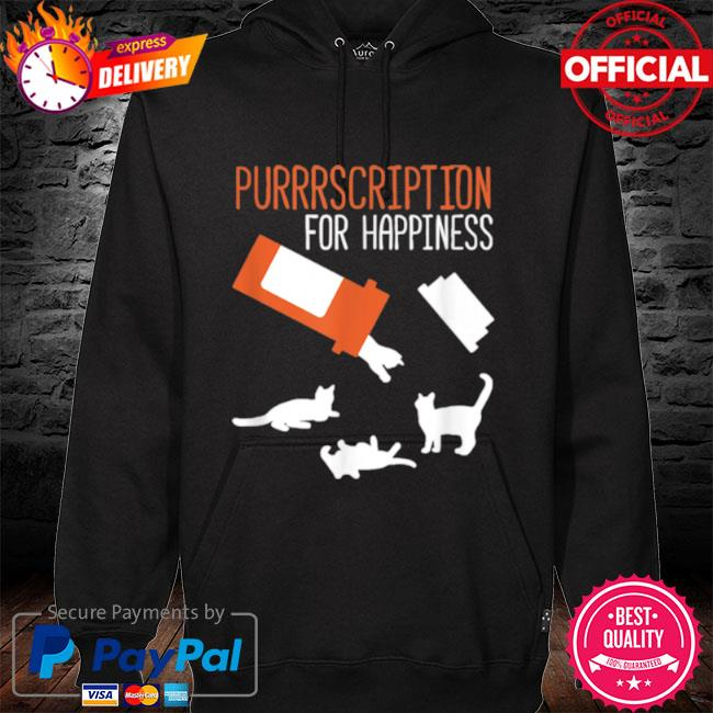 Purrrscription For Happiness Cats 2021 hoodie black