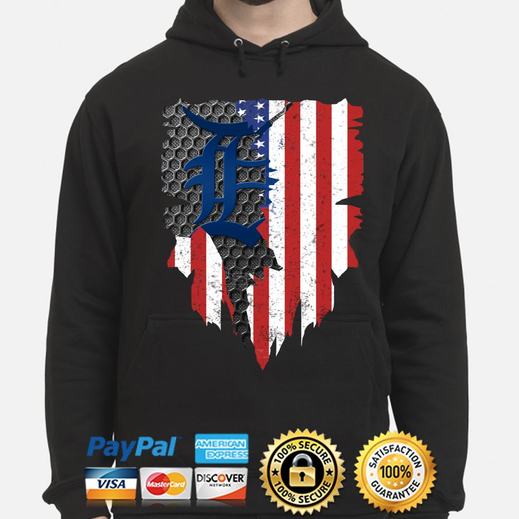 Detroit Tigers Inside American Flag Shirt hoodie