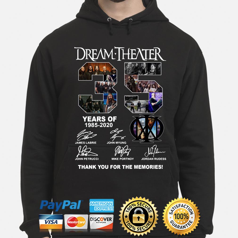 Dream Theater 35 years of thank you for the memories signature s hoodie