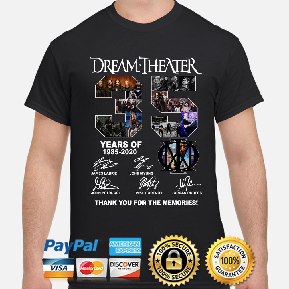 Dream Theater 35 years of thank you for the memories signature shirt