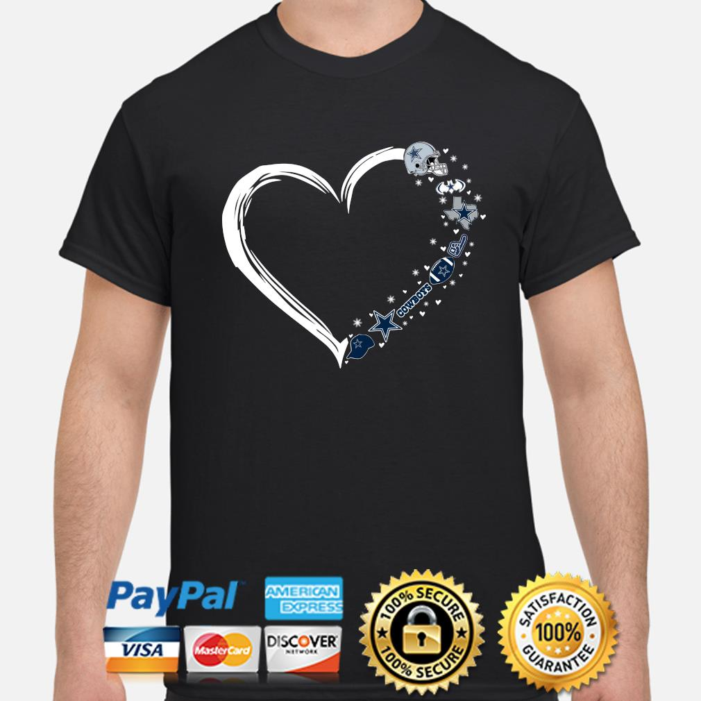 Dallas Cowboys love heart shirt