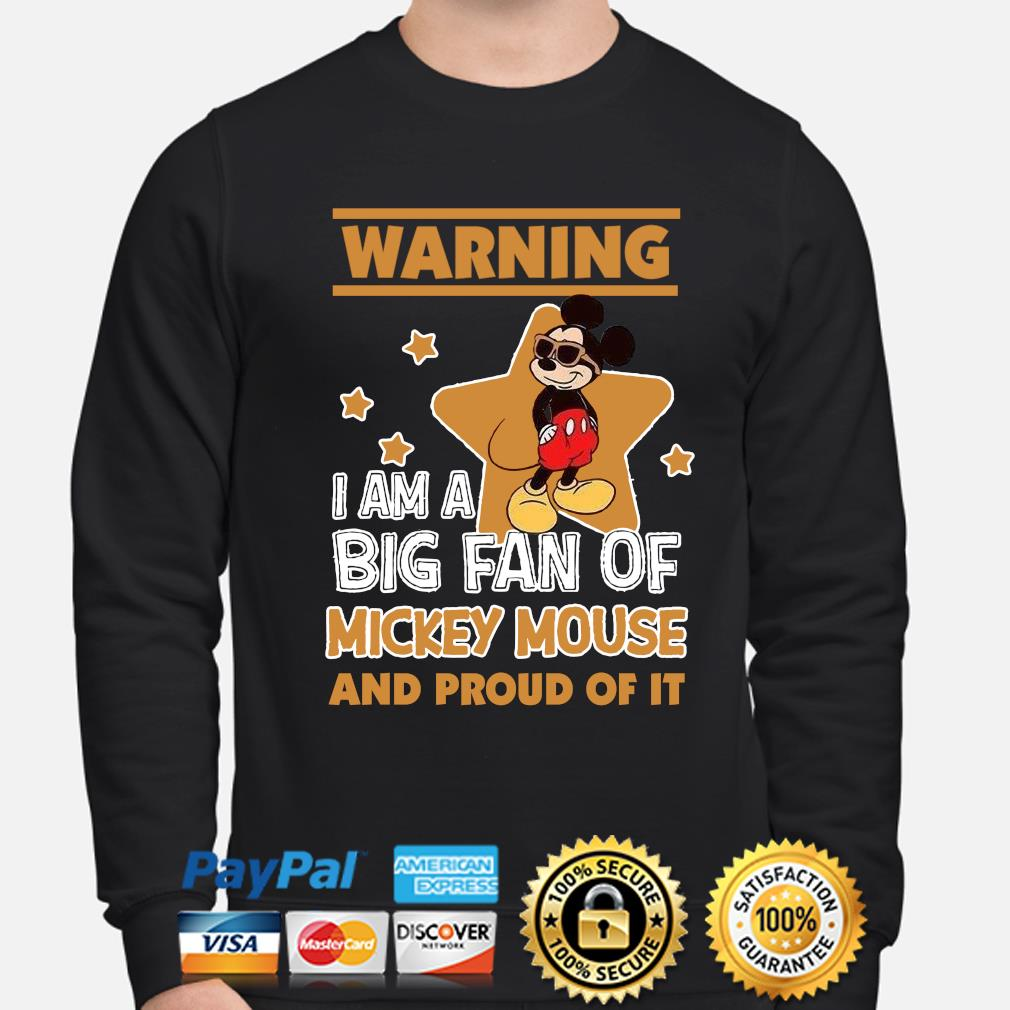 Warning I am a big fan of Mickey Mouse and proud of it s sweater