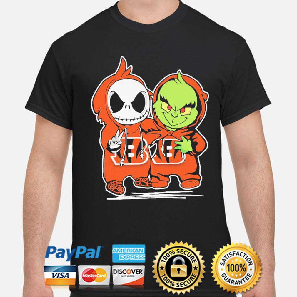 Baby Jack Skellington and baby Grinch Bengals Baseball shirt