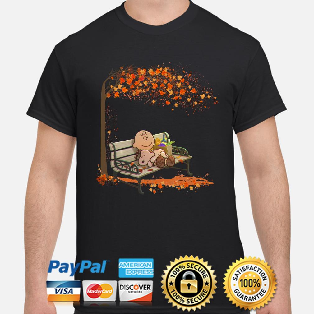 2020 charlie brown and snoopy fall maple leaves shirt
