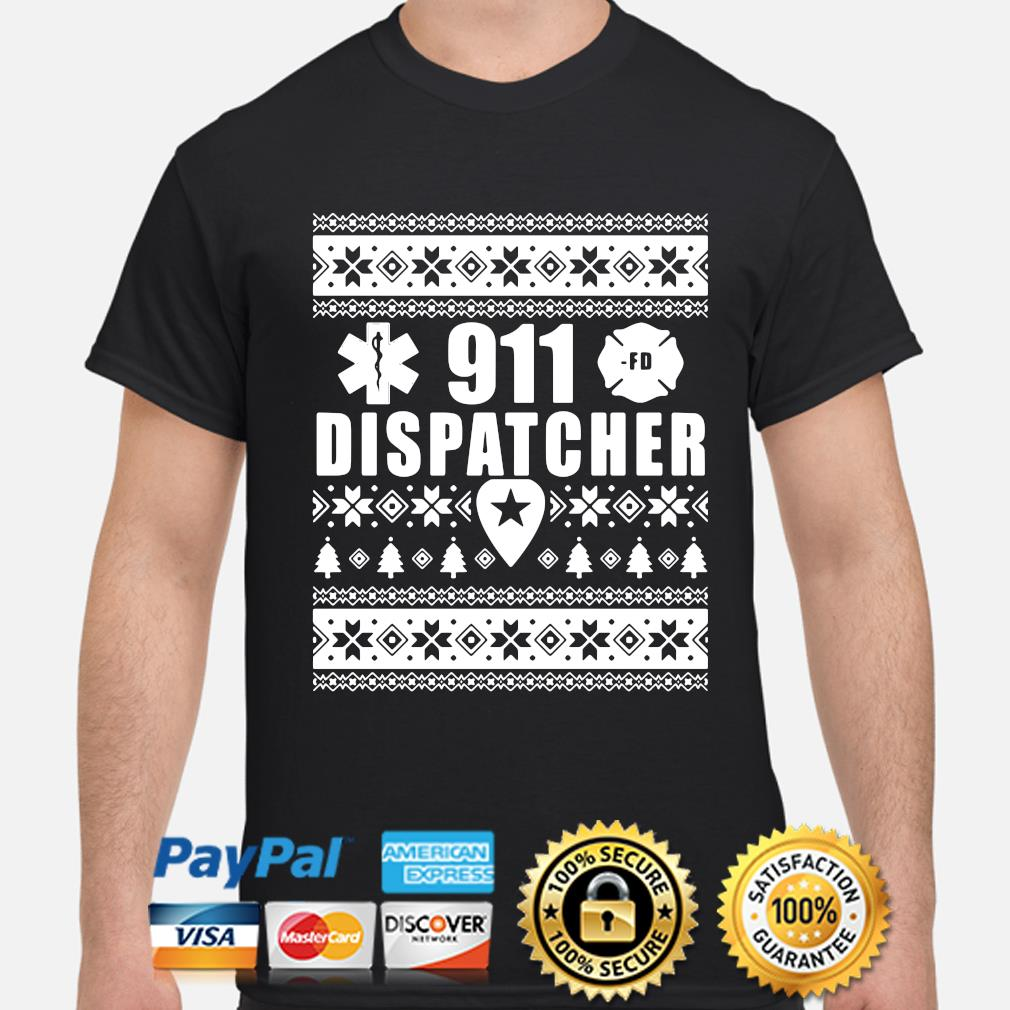 911 dispatcher Ugly Christmas sweater