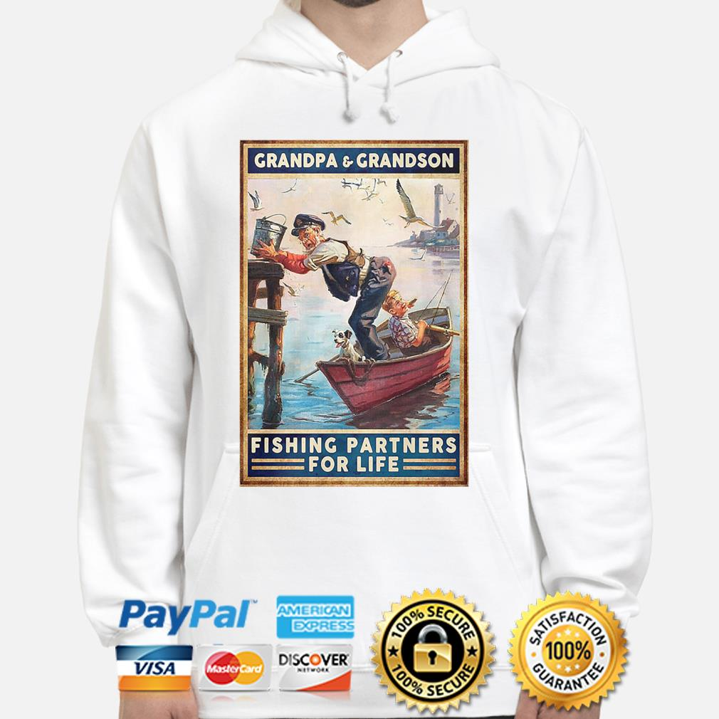 Grandpa and Grandson fishing Patterns for life s hoodie
