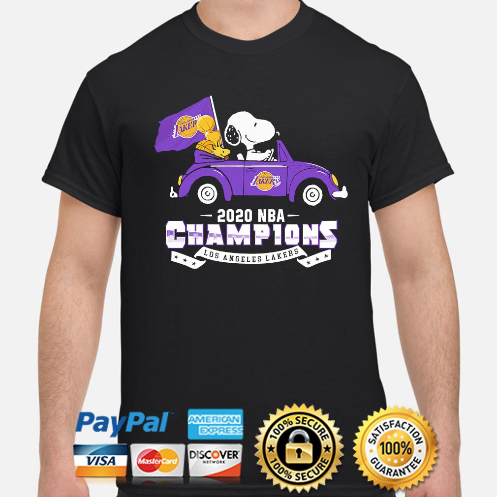 Snoopy and Woodstock 2020 NBA Champions Los Angeles Lakers shirt
