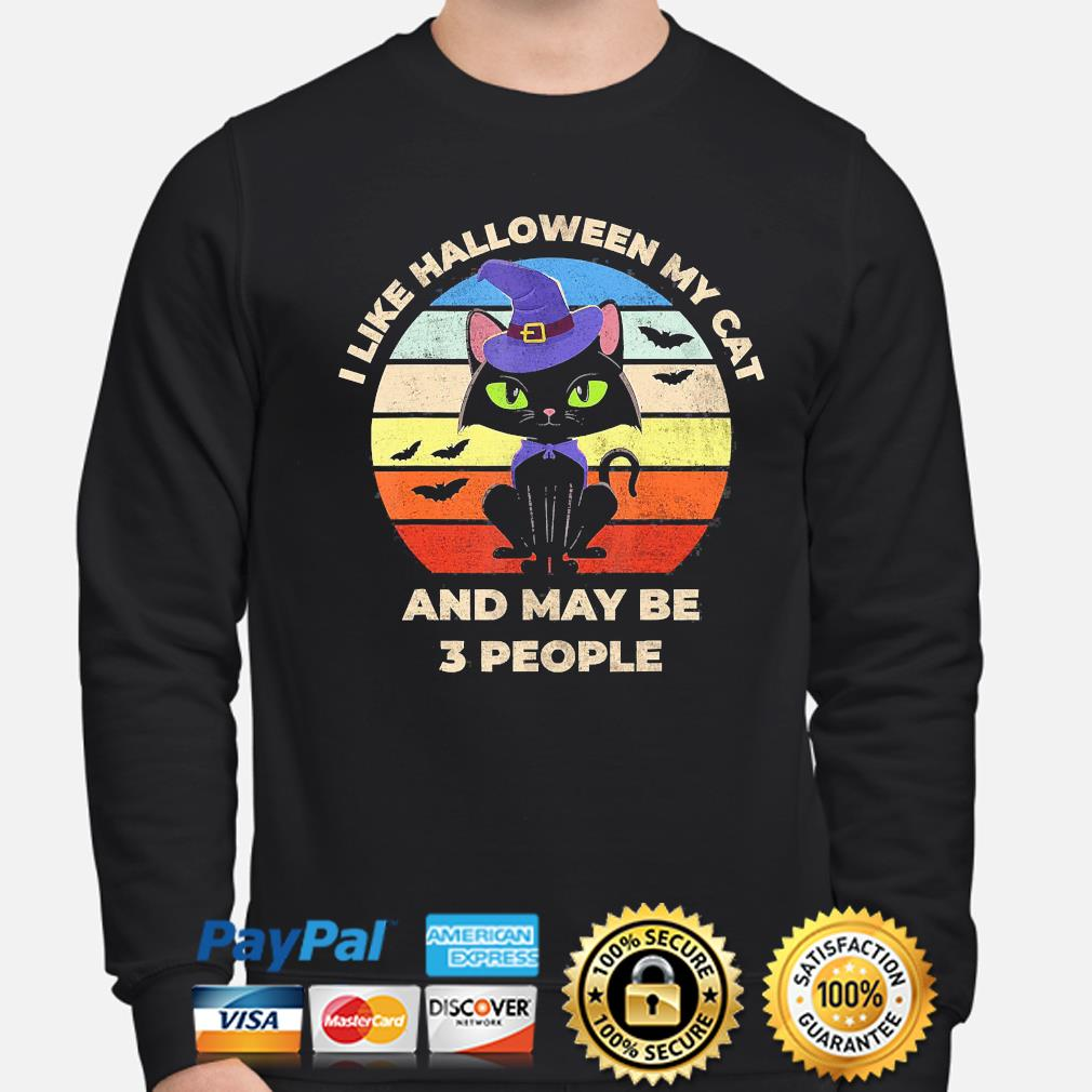 witch I like Halloween Cat and may be 3 people vintage s sweater