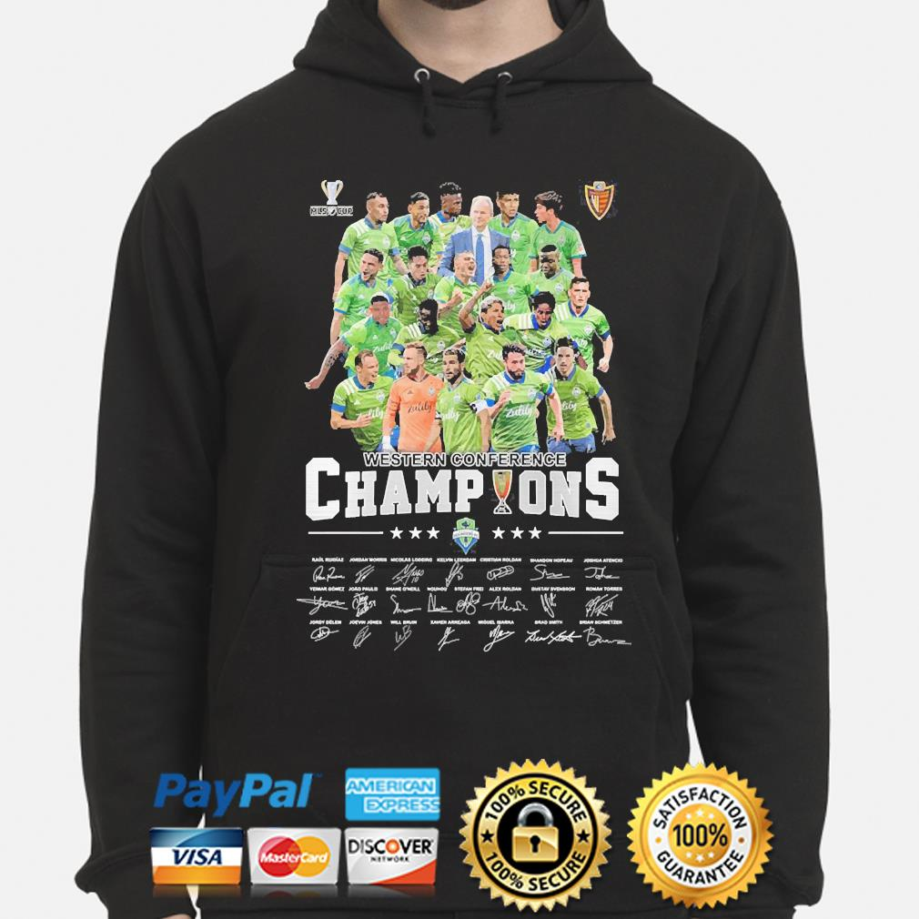 Western Conference champions signatures s hoodie