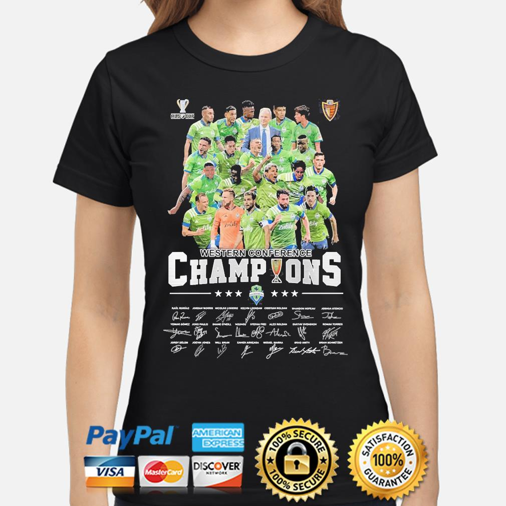 Western Conference champions signatures s ladies-shirt