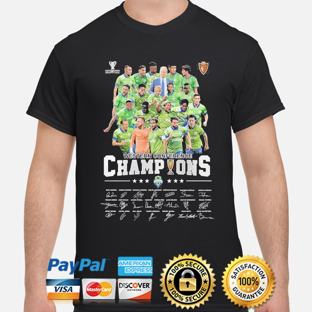 Western Conference champions signatures shirt