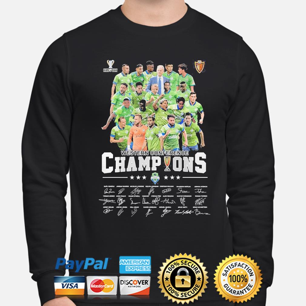 Western Conference champions signatures s sweater